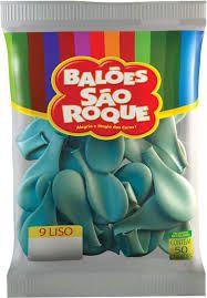 Balão 9 Liso C/50 Azul Oceano