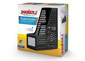 Organizador Pastas/ Revistas Individual Preto - Waleu