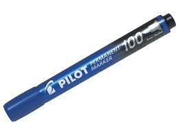 Marcador Permanente Sca -100 Azul - Pilot