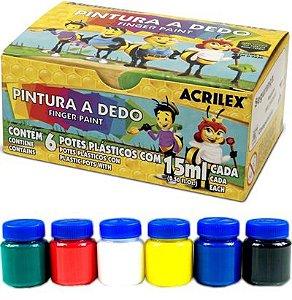 Pintura A Dedo 6 Cores 15ml - Acrilex