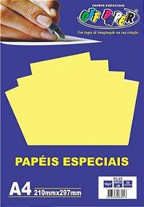 Papel Plus Amarelo Lumi 120g A4 20 Fls - Off Paper