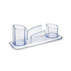 Porta Caneta/Clips/Lembrete Cristal - Waleu