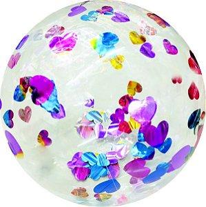 Balão Transparente C/ Coração Sortidos - Vmp