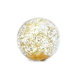 Balão Transparente C/ Glitter Ouro - Vmp