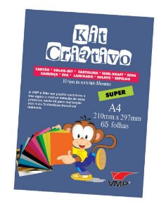 Kit Criativo Super A4 65fls Sortido - Vmp