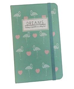 Caderneta De Anotações 14x9cm Flamingo - VMP