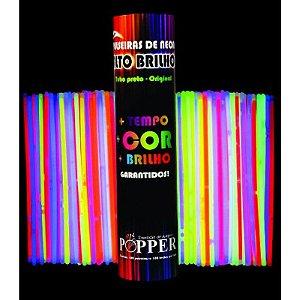 Pulseira Neon 7 Cores Sortidas Pct.C/100 Br01 - Popper