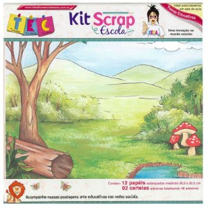 Kit Scrap Escola Materias Basicas