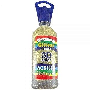 Dimensional Glitter Ouro 35ml - Acrilex