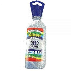 Dimensional Glitter Prata 35ml - Acrilex