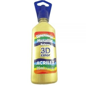 Dimensional Metallica Ouro 35ml - Acrilex