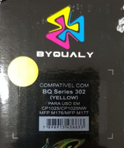 Cart De Toner Compativel C/ Bq Series 302 Y 1,0k Byqualy