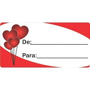 Etiqueta Para Presente De/Para Retangular Coracao  - Grespan