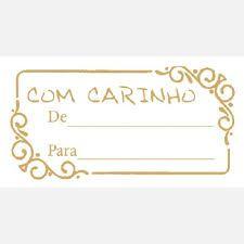 Etiqueta Para Presente Parabéns Retangular Dourado C/100  - Grespan
