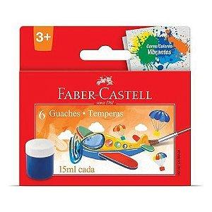 Guache 15ml - 6 Cores - Faber-Castell