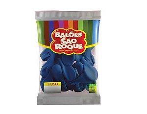 Balão 7 Liso C/50 Azul Cobalto - São Roque