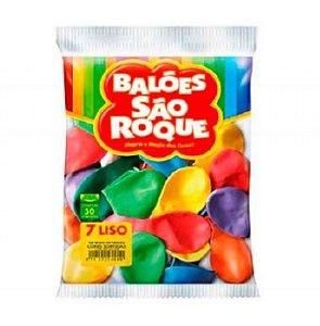 Balão 7 Liso C/50 Sortidos - São Roque