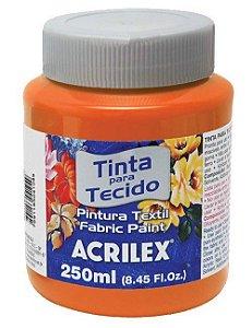 Tinta Tecido Laranja 250ml - Acrilex