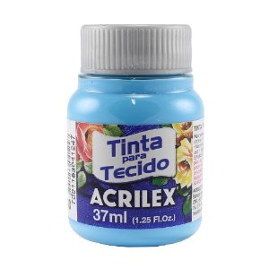Tinta Tecido Fosca Azul Celeste 37ml - Acrilex