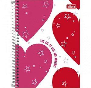 Caderno Espiral Universitário 20 Matérias Love Pink - Tilibra
