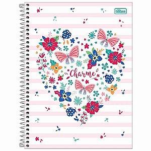 Caderno Universitário 1 Matéria 80 Folhas Charme- Tilibra
