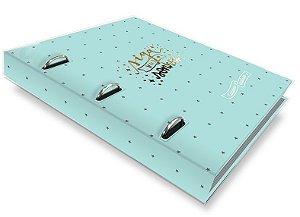 Caderno argolado Verde estrelas-Fina Ideia