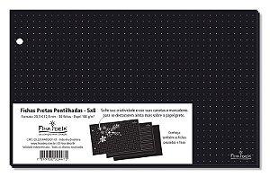 Fichas Pontilhadas Preto 5x8 180 g/m² 30 Unidade-Fina Ideia