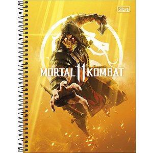 Caderno Universitário 1 Matéria 80 Folhas Mortal Kombat-Tilibra