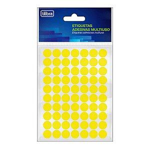 Etiqueta Multiuso 13mm Amarelo Fluorescente -Tilibra