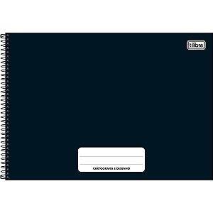 Caderno Cartografia e Desenho 80 Folhas Pepper Preto-Tilibra