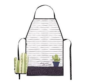 Kit Avental Com Luva Natural Colors Cactus - Uatt