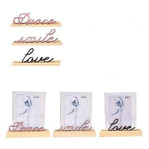 Porta Retrato Palavra Dance - Uatt