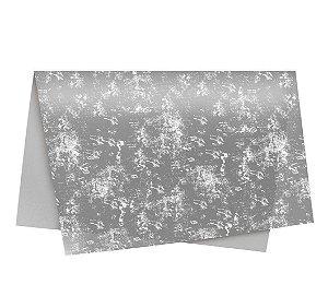 Papel Seda Requinte Prata 49x69cm-Cromus