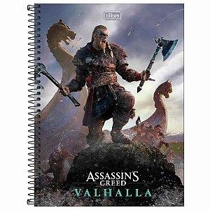 Caderno Universitário 1 Matéria 80 Folhas Assassin's Creed-Tilibra