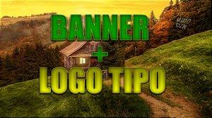 KIT Banner e Logo (QUALQUER TIPO)