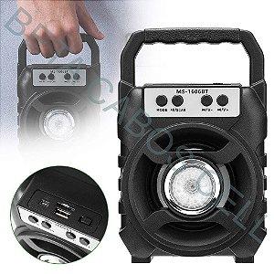 Caixa Caixinha De Som Portátil Bluetooth Mp3 Rádio MS-1606BT MS 1606