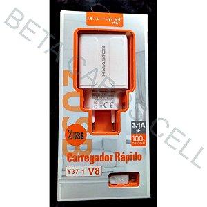Carregador Hmaston Y37-1Y 37-1 Y37 Micro Usb V8 5v 3.1a 2 USB
