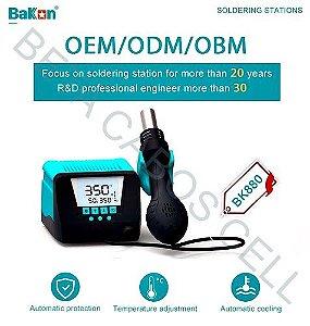 Estação Retrabalho Bakon Bk-880 Bk 880 Soprador Ar Quente 110v Lead Free