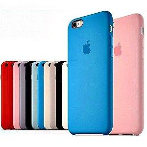 Capa Case Silicone Aveludado Iphone 7 Cores Sortidas