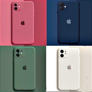 Capa Case Silicone Aveludado Iphone 8 Cores Sortidas