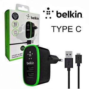 Carregador Belkin 10W com 2 USB Tipo C Type C