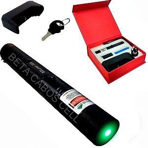 Caneta Laser Pointer 10000mw 10km Verde Kit Completo