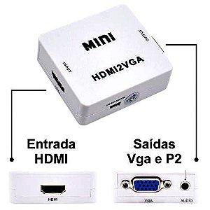 Adaptador Hdmi Vga Compatível Ps4 Ps3 Xbox 360 One Hdmi2vga