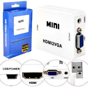 Adaptador Hdmi Vga Compatível Ps4 Ps3 Xbox 360 One Hdmi2vga