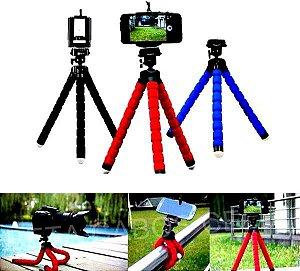 Mini Tripé Flexível Suporte Universal Celular Câmera Digital