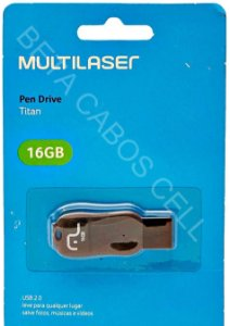 Pen Drive Multilaser Titan 16 Gb.