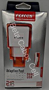 Carregador Tomada V8 Feitun 2 USB 2.1A