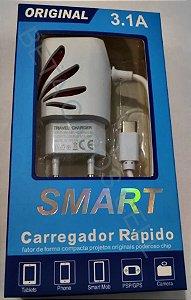 Carregador de Celular Parede para TYPE C Tipo C Smart - 3.1A CX