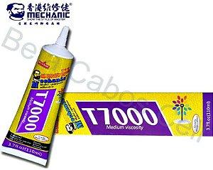 Cola T7000 Mechanic Preta 110ml Fixa Celular Tablet Touch