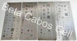 Kit Stencil Para iPhone X XR XS XS MAX Reballing Bga 4 Peças